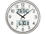 ITM-650J-8JF シルバー 電波掛時計 生活環境お知らせクロック