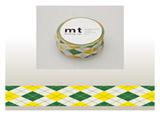 mt マスキングテープ(アーガイル・グリーン) MT01D163
