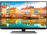 液晶テレビ AQUOS(アクオス)  4T-C43CL1 [43V型 /4K対応 /BS・CS 4Kチューナー内蔵 /YouTube対応] 【買い替え5000pt】