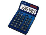 ナイスサイズタイプ電卓 「電卓50周年記念モデル」(12桁) EL-VN82AX(ディープブルー)