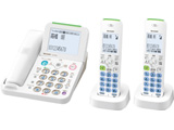 【子機2台】デジタルコードレス留守番電話機 JD-AT85CW(ホワイト系)