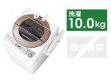全自動洗濯機 (洗濯10.0kg) ES-GV10C-T ブラウン