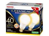 調光器非対応LED電球 「E-CORE」(一般電球形・全光束485lm/電球色・口金E26/2本入り) LDA5L-G/40W-2P