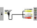 VX-ML10G(L型4極ミニプラグ-ピン×3 ビデオコード/1m)