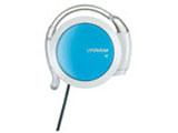耳かけ型ヘッドホン リワインド Be!(ホワイト&ブルー)HP-AL202-WA[コード巻き取り機能付]