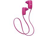 HA-EB10BT(ピンク)HA-EB10BT-P【防滴】【リモコン・マイク対応】【スポーツ向け】 ブルートゥースイヤホン カナル型