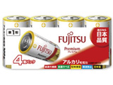 【単1形】 4本 アルカリ乾電池「プレミアム」LR20FP(4S)
