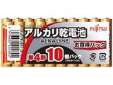 【単4形】10本 アルカリ乾電池 LR03H10S