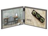 メタルフォトフレーム SERENA(セレーナ)01 2Lサイズ 2面(ヨコ・ヨコ) ブラック FSR01-BK2L2Y ブラック
