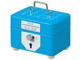 【在庫限り】 簡易セキュリティBOX スチールボックス カギ2本付 SB-006C  スカイブルー 37-159