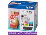 【純正インク】 LC219/215-4PK インクカートリッジ(大容量・お徳用4色パック)
