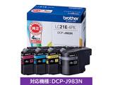 【純正】インクカートリッジ (4色セット) LC21E-4PK