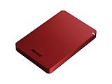 HD-PGF1.0U3-RDA(レッド)  USB3.1(Gen.1)対応 ポータブルハードディスク[1TB/Win・Mac対応]