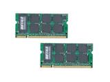 【在庫限り】 D2/N533-2GX2(DDR2 SDRAM  S.O.DIMMメモリ/2GB×2枚)