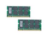 【在庫限り】 D2/N667-512MX2(DDR2 SDRAM  S.O.DIMMメモリ/512MB×2枚)
