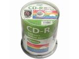 【HIDISC】HDCR80GP100 CD-R 700MB 100枚スピンドル 52倍速 ワイドプリンタブル