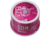 CD-R データ用 700MB 80分 52倍速 50枚スピンドルケースホワイトワイドプリンタブルインクジェットプリンタ対応 VVDCR80GP50