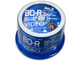 録画用 BD-R 1-6倍速 25GB 50枚【インクジェットプリンタ対応】 VVVBR25JP50
