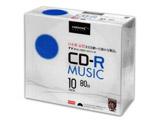 音楽用  CD-R 48倍速 80分 10枚 【インクジェットプリンタ対応】 TYCR80YMP10SC