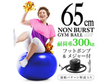 健康グッズ ノンバーストジムボール(φ65cm/コバルト)