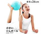 健康グッズ 小さいジムボール(φ26cm/アクア)