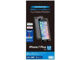 iPhone 7 Plus用 衝撃吸収ブルーライトカットフィルム 高光沢 (両面セット 背面高光沢) BKS19IP7PF 【ビックカメラグループオリジナル】