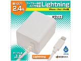 iPad/iPad mini/iPhone/iPod対応[Lightning] AC充電器 2.4A (1.5m・ホワイト) MFi認証 RBMFI066