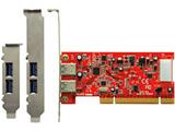 Renesas社製 μPD720202搭載 USB3.0x2 インターフェースボード(PCI接続)