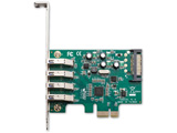 USB3.0-PCIE-P4-R2 VLI社製 VL805搭載 USB3.0x4 インターフェース(PCI-Express x1接続)