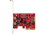 USB3.1C-P2-PCIE ASMedia社製 ASM2142搭載 USB3.1 Type-C x2 インターフェース(PCI-Express x4接続)
