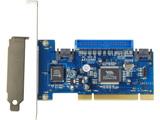 VIA社製 VT6421搭載 SATA x2 ATA133(IDE40ピン) x1(2台まで) インターフェースボード(PCI接続)