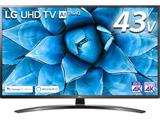 液晶テレビ  ブラック 43UN7400PJA [43V型 /4K対応 /BS・CS 4Kチューナー内蔵 /YouTube対応]