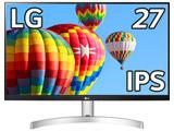 27型フルHD3辺フレームレスデザイン液晶ディスプレイ(IPS/スピーカー/Dsub/HDMI/Freesync/ブルーライト低減/3年保証)   27ML600S-W [27型 /ワイド /フルHD(1920×1080)]