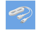 抜け止め延長コード (ホワイト・1個口・5mコード付) WH4965TWP