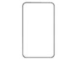 WTC7091W カバープレート(取付枠付)(1連用・ラウンド)  ホワイト