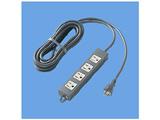 電源タップ (3P・4個口・接地15A形・5m・ブラック) WCH2354B