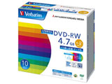Verbatim DHW47NDP10V1 (DVD-RW/4.7GB/DATA/2倍速/10枚/プリンタブル/CPRM対応)