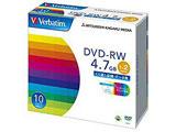Verbatim DHW47NP10V1 (DVD-RW/4.7GB/DATA/2倍速/10枚/プリンタブル)