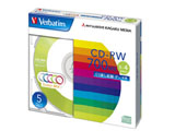 Verbatim SW80QM5V1 (CD-RW/700MB/DATA/4倍速/5枚/カラーミックス)