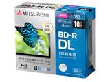 録画用 BD-R DL 1-6倍速 50GB 10枚【5mmスリムケース / インクジェットプリンタ対応】 VBR260RP10D1-B