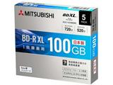録画用BD-R XL 2-4倍速 100GB 5枚【スリムケース/インクジェットプリンタ対応】 VBR520YP5D2