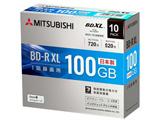 録画用BD-R XL 2-4倍速 100GB 10枚【スリムケース/インクジェットプリンタ対応】 VBR520YP10D2