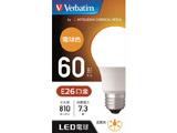 LED電球 「バーベイタム」(一般電球形[広配光タイプ]・全光束810lm/電球色相当・口金E26) LDA7L-G/LCV1