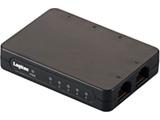 LAN-SW05PSBE 100BASE-TX対応 小型スイッチングハブ (5ポート/ブラック)