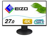 FlexScan EV2785-SFBK(ブラック) 27.0型4K対応液晶モニター Surface対応モデル [3840×2160/USB Type-C・DisplayPort・HDMI×2]