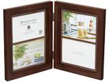 メモリーズ木製フォトフレーム 【L(サービスサイズ)×4】(4ウィンドー・ブラウン) EF-02832