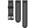 24MM ATHLETIC1 SILICONE STRAP S+M SS050225000 BLACK/BLACK