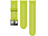 24MM ATHLETIC1 SILICONE STRAP S+M SS050226000 LIME/BLACK
