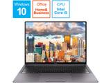 【在庫限り】 モバイルノートPC HUAWEI MateBook X Pro MAW19CH58BNC6AUB [Core i5・13.9インチ・Office付き]