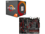 AMD Ryzen 7 2700X BOX品 + MSI B450 GAMING PLUS セット